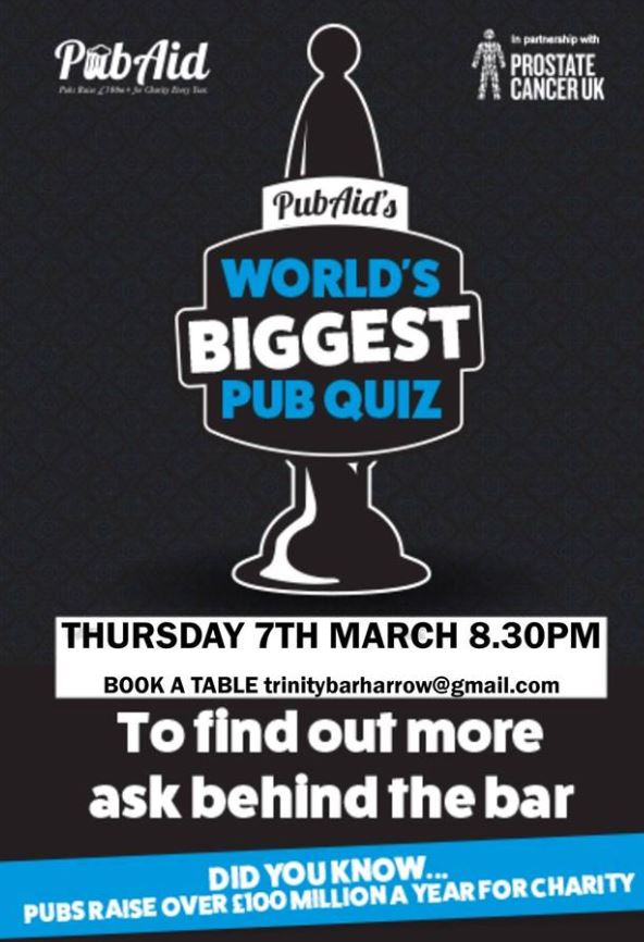 World's Biggest Pub Quiz | Harrow Business Improvement